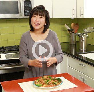Sautee Udon Noodles with Shrimp & Vegetables