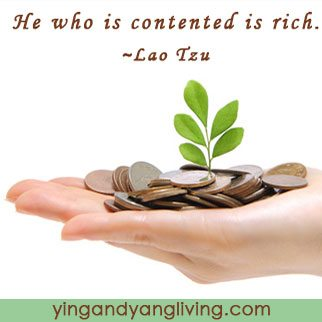 Leaf and Coins Lao Tzu