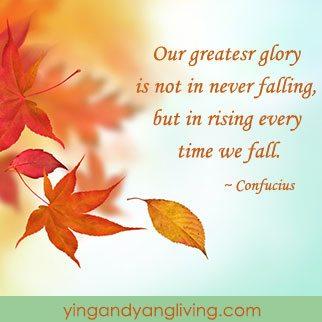 Leaves Falling Confucius
