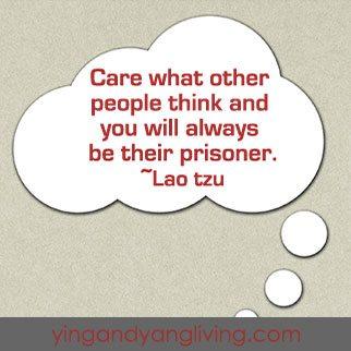 Zen Message — Speech Bubble — Lao Tzu