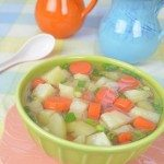 Potato Carrot Soup in Japanese Bonita Flake Broth
