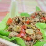 Lettuce Wrap with Turkey, Almond, Red Bell Pepper & Cilantro Filling