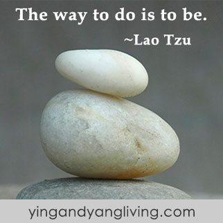 Zen Message: White Gray Rock Lao Tzu