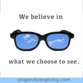 Zen Message: Black Sunglasses Blue Sky