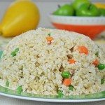 Thyme & Ginger-Infused Long Grain Brown Fried Rice to Pair with Chicken, Fish or Beef