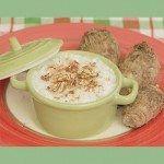 Coconut Rice Pudding with Tarot Root & Pecans