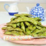 Edamame Snack in Garlic, Olive Oil, Sesame Seeds & Red Hot Pepper Flakes