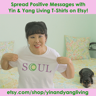 Yin & Yang Living Positive Message T-Shirts Available on Etsy!
