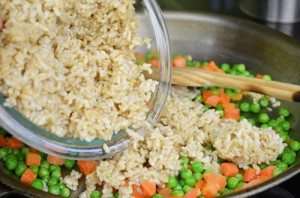 Add Brown Rice to Peas & Carrots Small