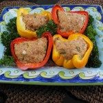 Baked Turkey with Tofu in Bell Peppers
