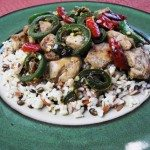 Chicken with Green and Red Chilis