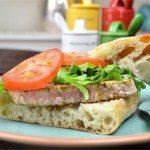 Seared Tuna Sandwich with a Wasabi-Relish Mayo Dressing