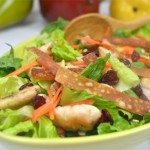 Crispy Wonton Chicken Salad with Orange Sesame Vinaigrette