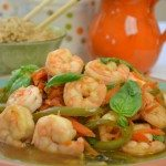 Thai Basil Leaves with Shrimp