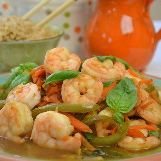 Thai Basil Leaves with Shrimp