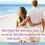 Zen Message: Couple on Beach – Indira