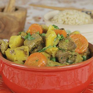 Thai Curry Beef with Coconut Milk, Lemongrass, Ginger and Potato
