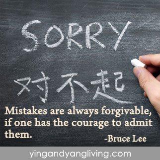 Zen Message: Black Chalkboard Bruce Lee Quote