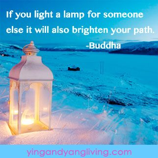 Zen Message Lamp on Beach Quote by Buddha