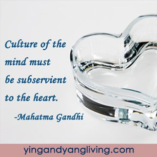 Zen Message: Culture of Mind Subservient to Heart Gandhi
