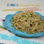 Bean Sprout Side Dish with Garlic & Sesame Seeds