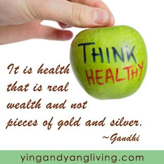 Zen Message Healthy Apple Gandhi