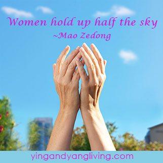 Zen Message Women Hold Up Half the Sky Mao Zedong