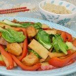 Japanese Fish Cake with Baby Bak Choy & Red Bell Pepper