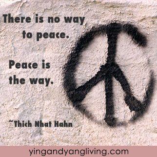 Zen Message Round Peace Sign Thich Nhat Hahn