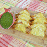 Baked Potato Samosas with Light Cilantro Lemon Dip