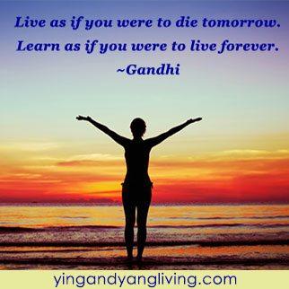 Zen Message: Live Forever Die Tomorrow – Gandhi