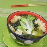 Miso Soup with Seaweed, Napa Cabbage & Rice