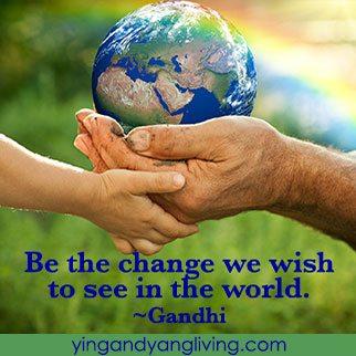 Zen Message: Earth with Tree Gandhi