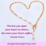 Zen Message: Gold Necklace Deepak Chopra