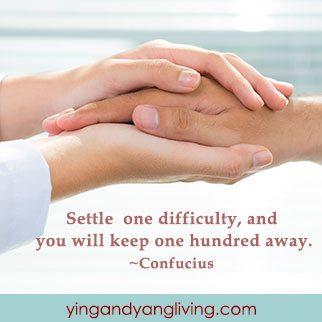 Zen Message: Two Hands Confucius