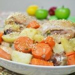 Chicken Drumsticks with Potato & Carrot in Soy Sauce Sesame Marinade