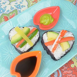Heart Shaped Sushi Appetizer