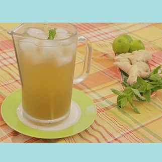 Ginger Mint Sparkler with Lime: Cool, Refreshing & Energizing