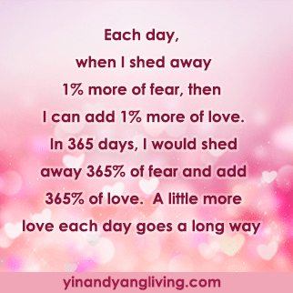 Zen Message: Add Love, Shed Away Fear