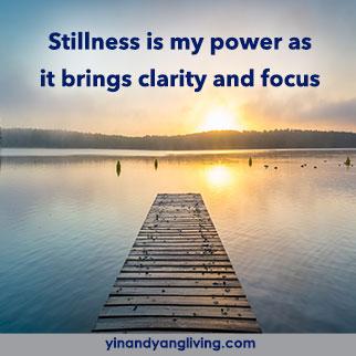 OM Message: Stillness Brings Clarity