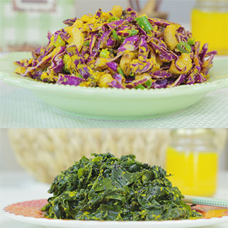 Ginger Carrot Dressing on Different Salads
