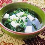 Miso Soup with Spinach and Tofu