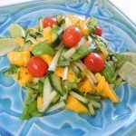 Papaya salad with cucumber