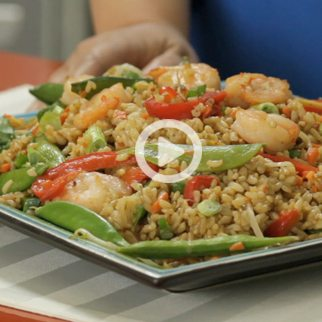 Shrimp Fried Rice with Brown Rice