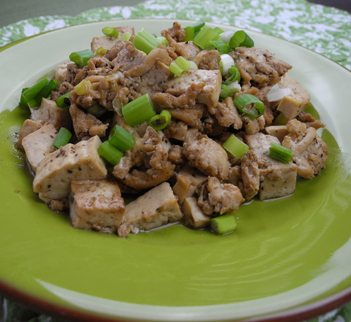 Tofu with Ground Turkey