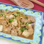 Tofu with Ginger & Garlic Soy Sauce